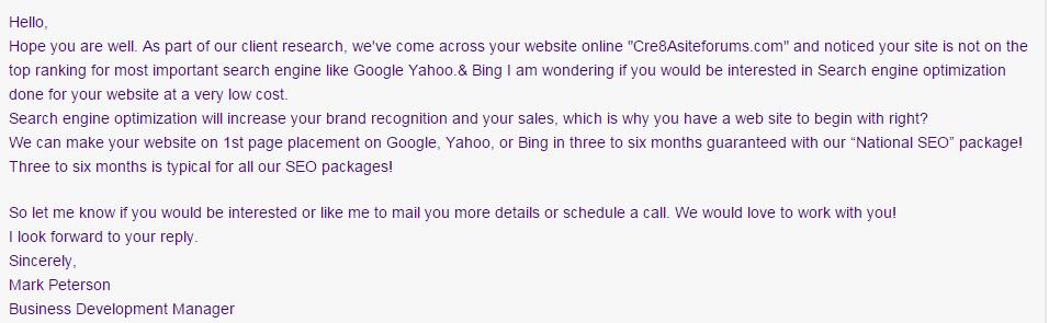 seo emails