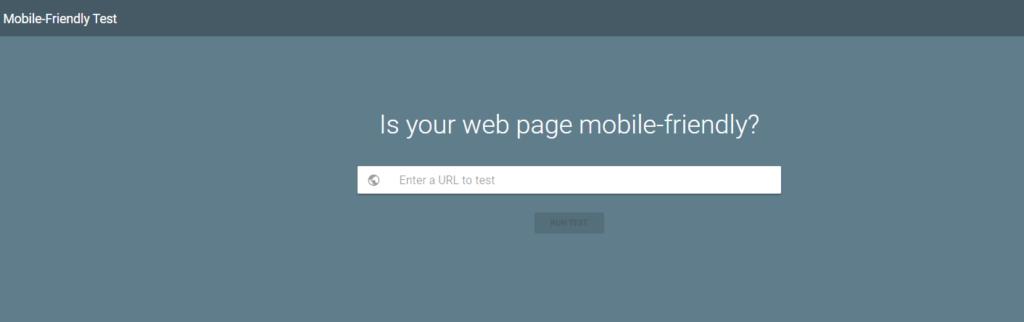 mobile friendly testing tool